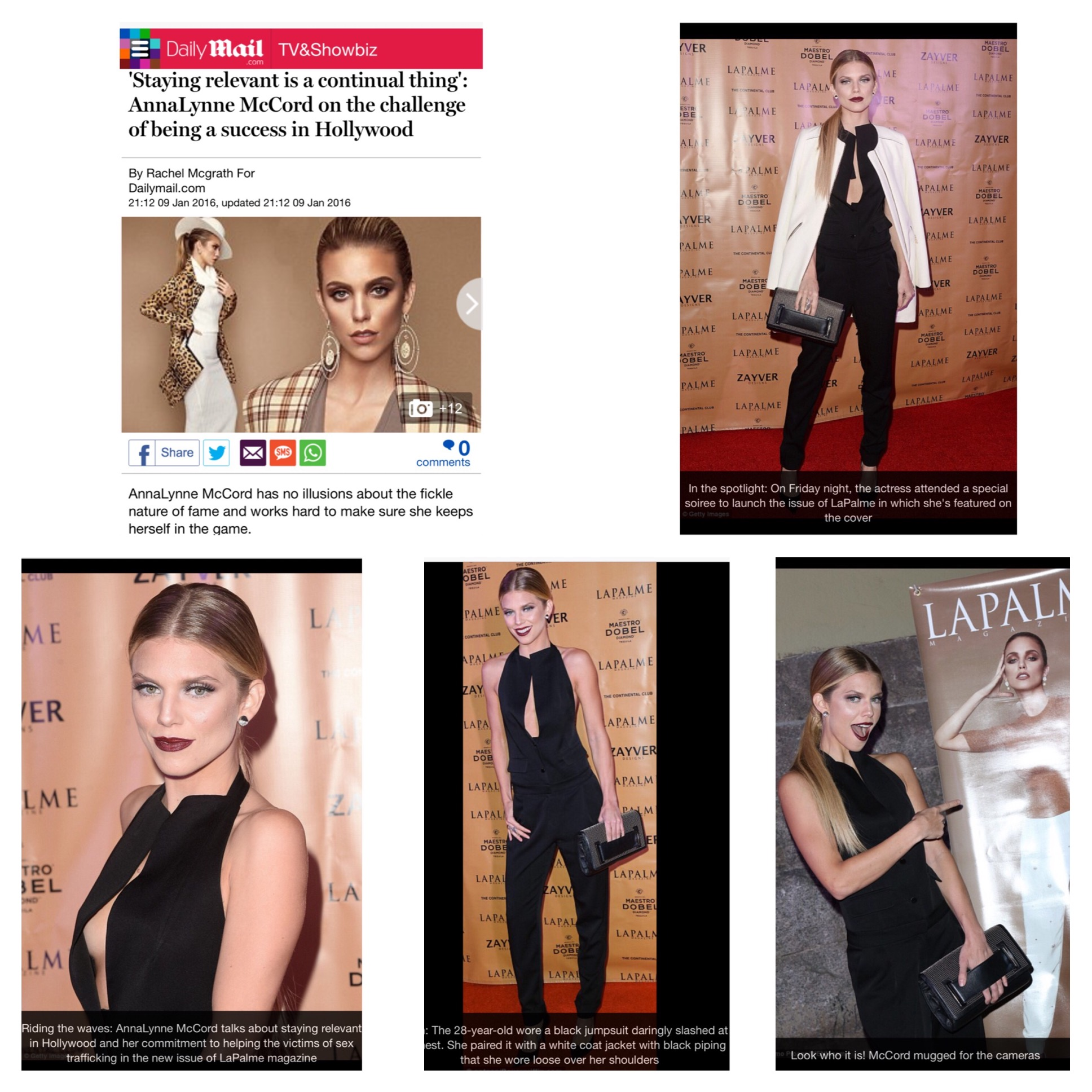 AnnaLynne McCord Daily Mail Feature on Lapalme Magazine