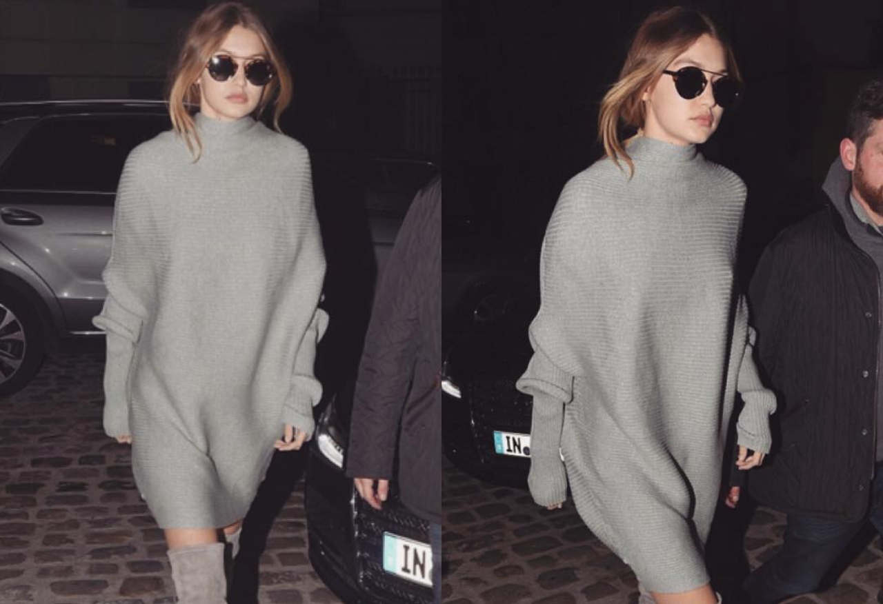 Get Her Look: Gigi Hadid OTK Boots and Oversized Sweater