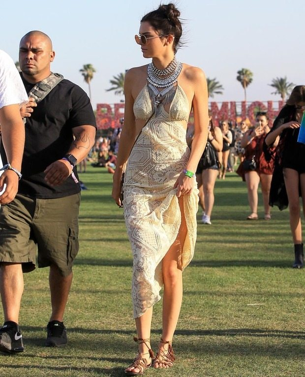 Kendall Jenner in DYLANLEX at Coachella Day 1