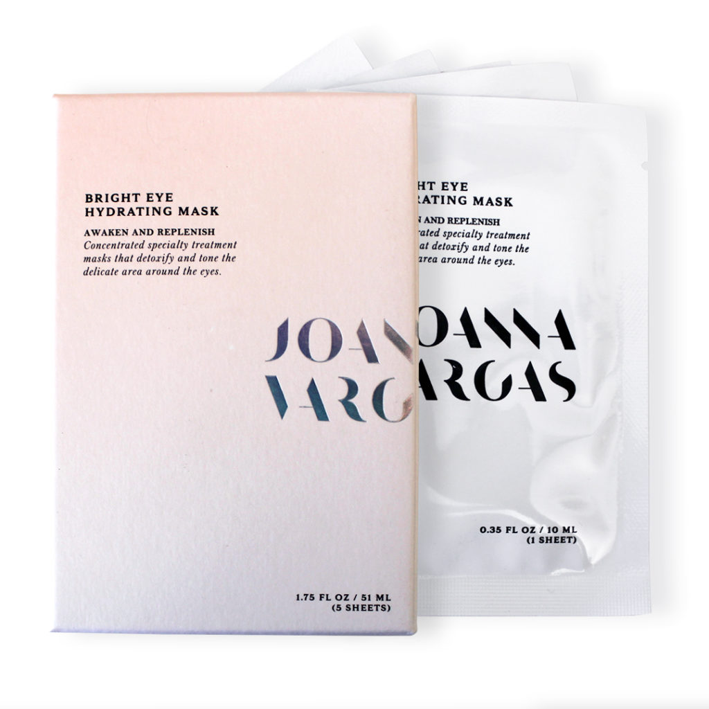 Bring the spa home with a Joanna Vargas Bright Eye Hydrating Mask.