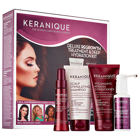 Bring the spa home with Keranique's Deluxe Regrowth Treatment & Deep Hydration Kit.