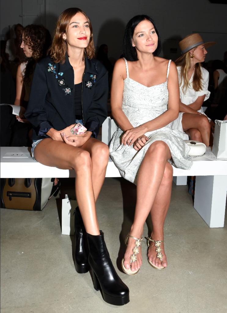 Alexa Chung & Leigh Lezark Front Row at Noon by Noor
