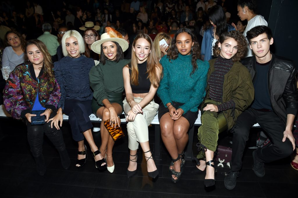 FRONT ROW SPOTTINGS AT VIVIENNE TAM SPRING/SUMMER 2018 RUNWAY SHOW