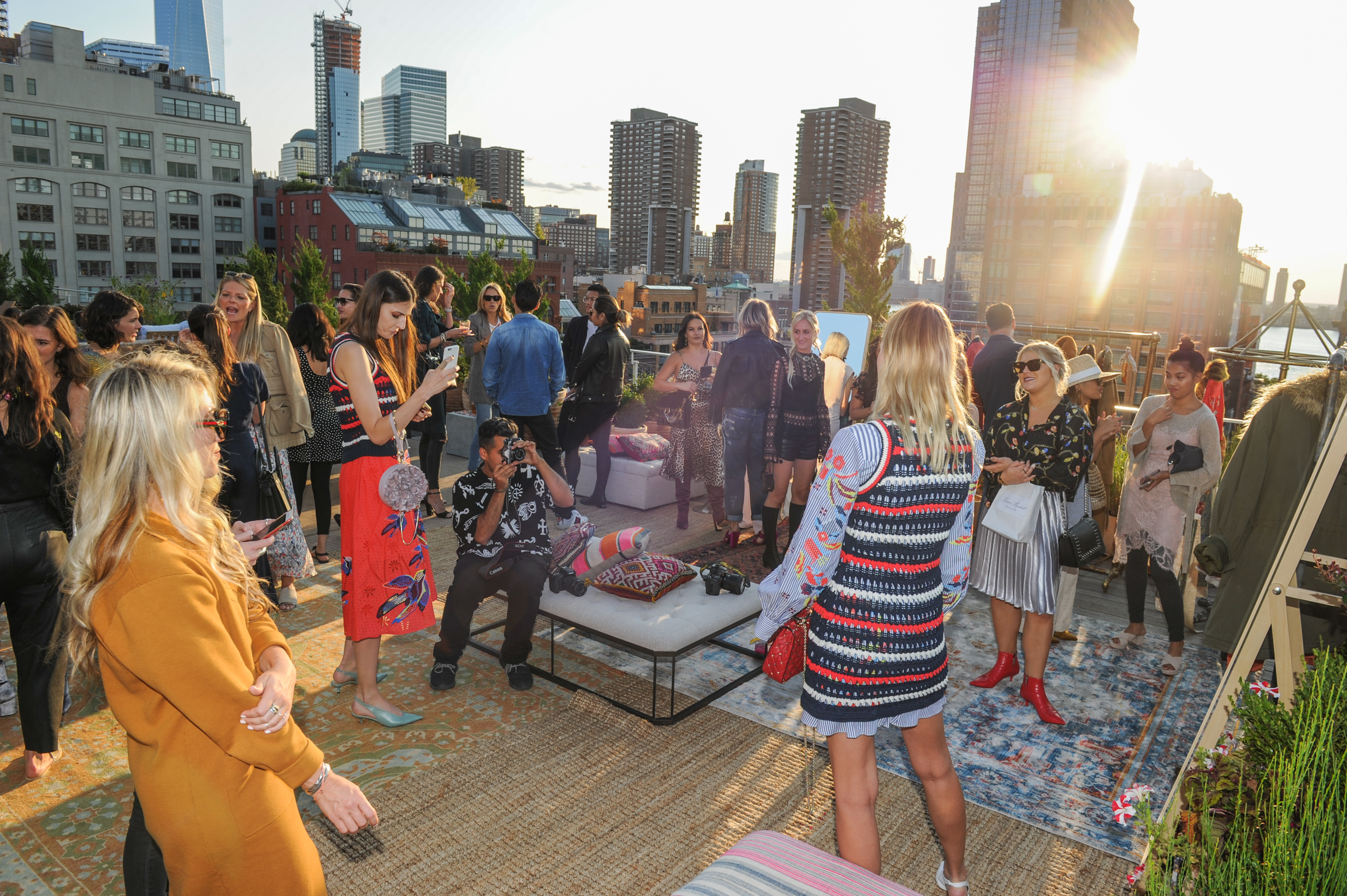 Vogue x Free People NYFW Rooftop Party #FPCOATCHECK