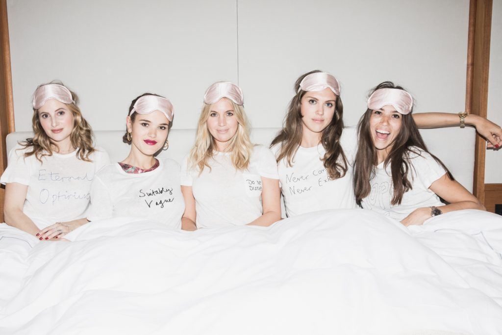 "The Ultimate BR""IT"" Girl Sleepover at The Berkeley for New T-Shirt Collab"