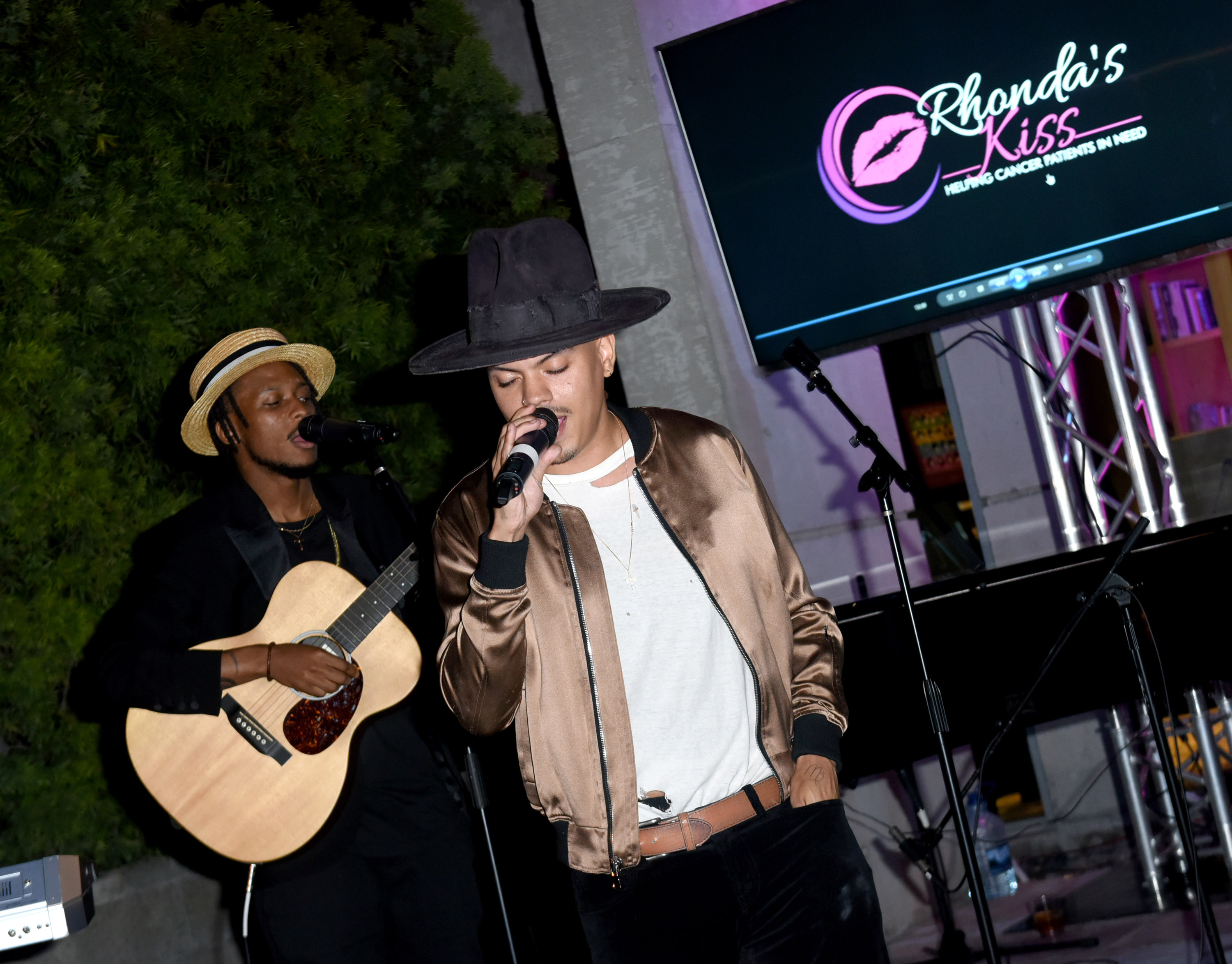 "Evan Ross and Ashlee Simpson Ross support Rhonda's Kiss Fundraising Dinner ""Kiss The Star"""