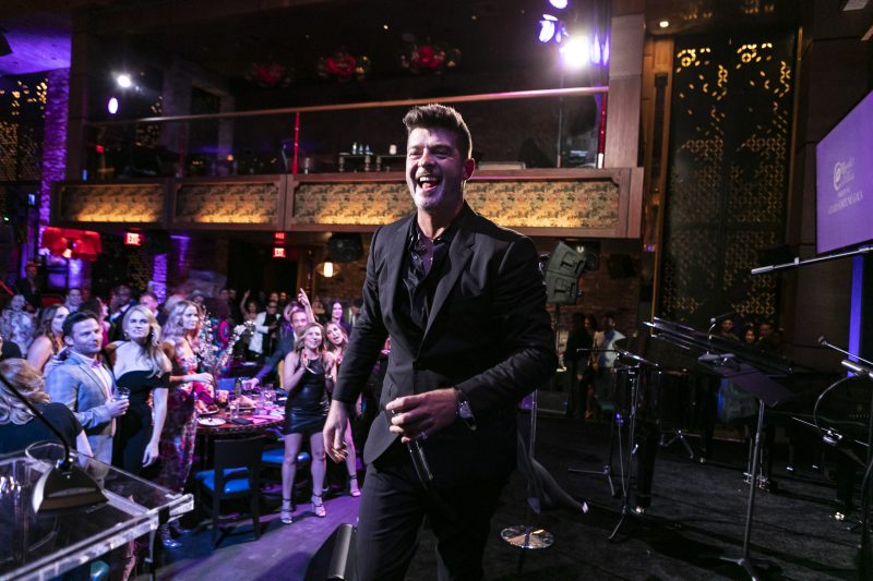 Rhonda's Kiss Hosted Good Fortune Gala with Live Performance by Robin Thicke.