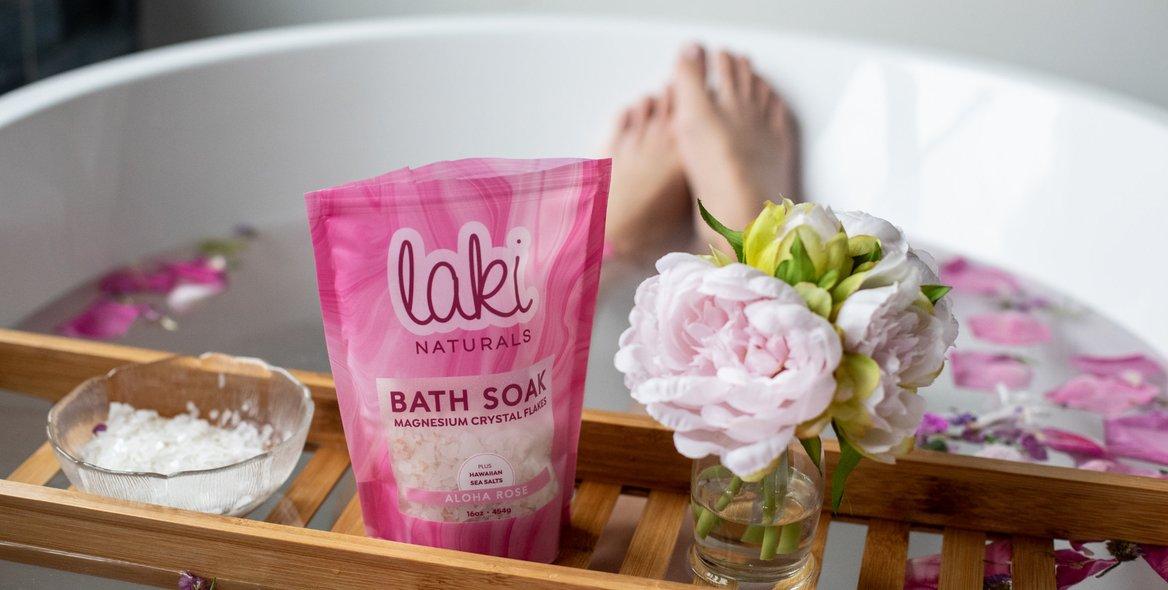 Laki Naturals, the world's most calming bath soak