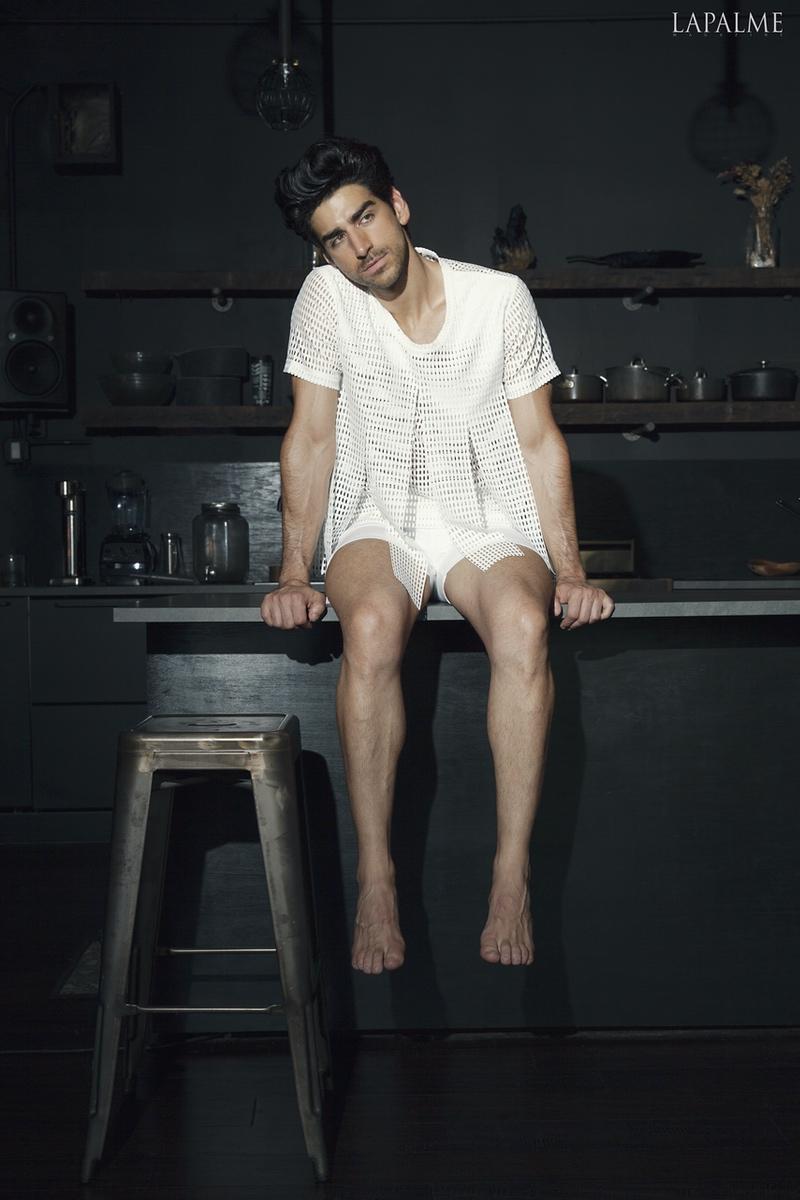 Shirt: Comme Des Garcons  Shorts: Versace