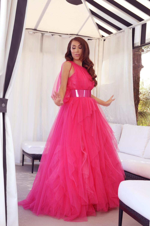 Pink tulle dress by Carolina Herrera