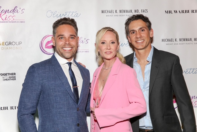Anne Heche, Kyle Stefanski and Dr. Michael Newman at Kiss The Stars, Rhonda's Kiss Cancer Charity Fundraising Event hosted by Mr. Warburton Media