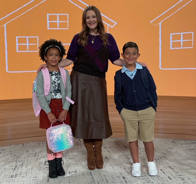"""DREW BARRYMORE AND THE CHILDREN'S PLACE CELEBRATE THE RETURN TO THE CLASSROOM WITH A $1 MILLION """"SCHOOL IS BACK"""" GIVEAWAY AND A $1 MILLION BACK-TO-SCHOOL PRODUCT DONATION TO BABY2BABY"""